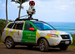 Google cars utilisé pour cartographier les routes