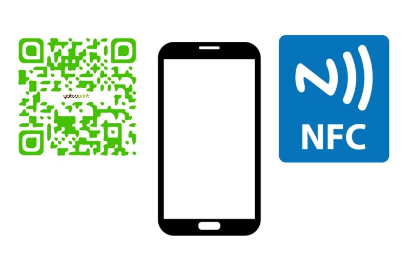 Les Cartes De Visite Lheure Du Numrique Et NFC Une Puce Communication En Champ Proche Dun Code QR Fonctionnalits Intelligentes