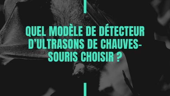 Quel modèle de détecteur d'ultrasons de chauves-souris choisir